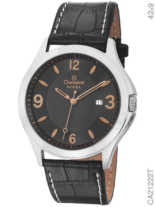 Relógio Champion Social Masculino CA21222T Pulseira Couro