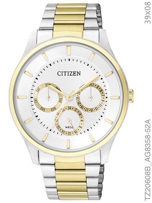 Relógio Citizen Analógico TZ20608B Aço Misto