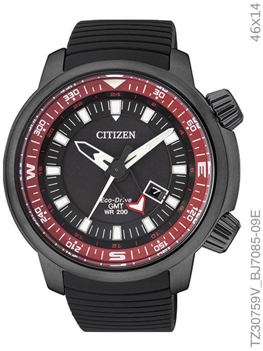 Relógio Citizen Eco-Drive TZ30759V GMT Dual Time