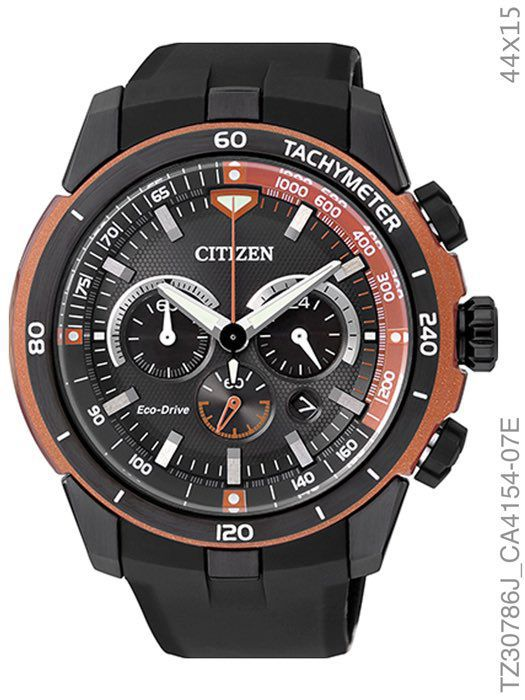 Relógio Citizen Eco Drive TZ30786J Orange Rubber