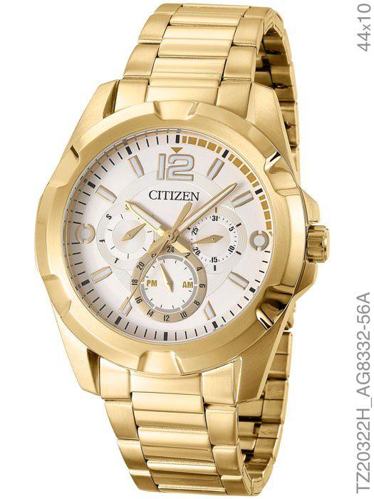 Relógio Citizen Masculino TZ20322H Chronograph Dourado