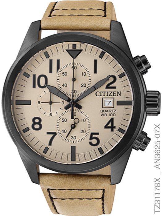 Relógio Citizen Masculino TZ31178X Pulseira Couro Marrom