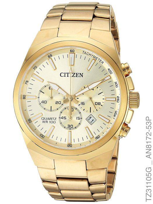 Relógio Citizen Tz31105g Cronógrafo Quartz Dourado