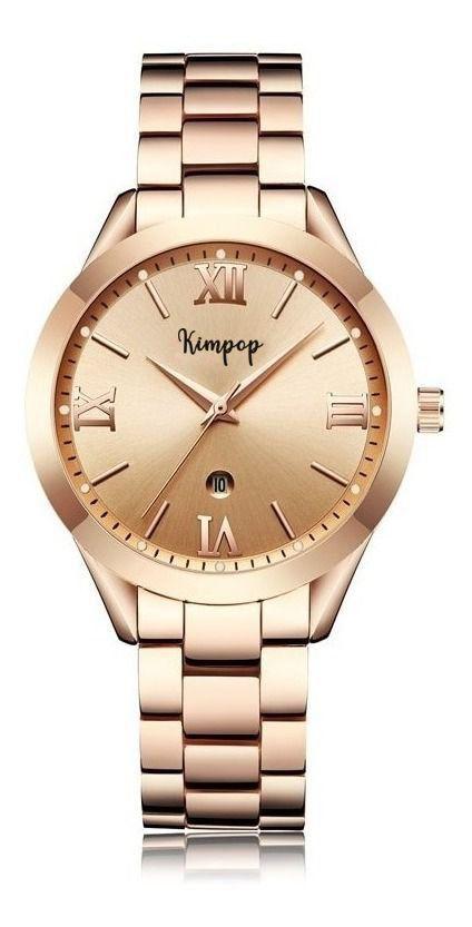 Relógio Feminino A Prova D`agua Rose Casual Kimpop