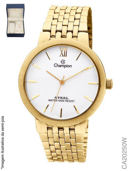 Relógio Feminino Analógico Champion CA20250W Dourado