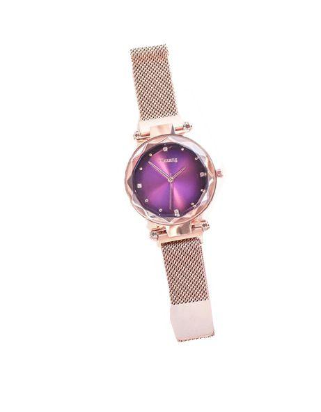 Relógio Feminino Céu Estrelado Pulseira Magnética Brilhante