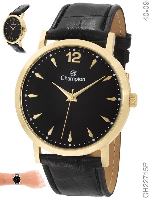 Relógio Feminino Champion Analógico CH22715P Couro