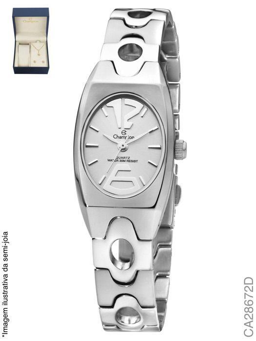 Relógio Feminino Champion CA28672D Prata