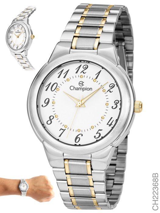 Relógio Feminino Champion Ch22368b Prateado