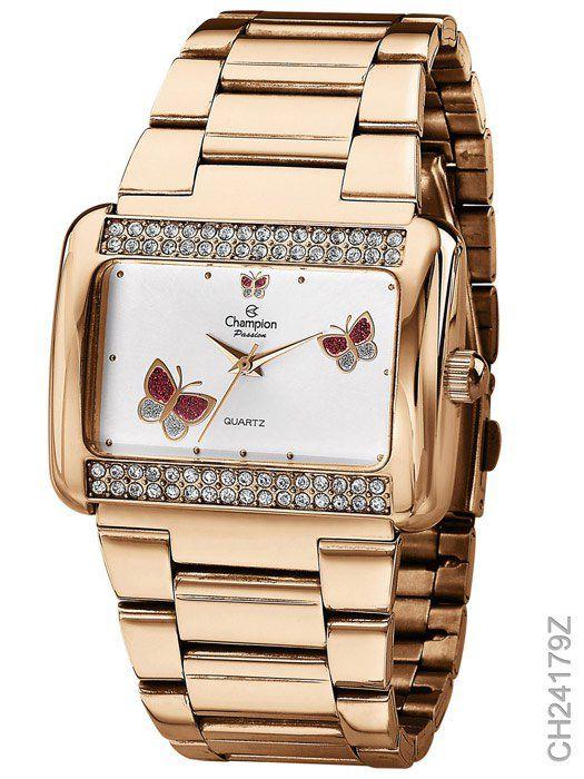 Relógio Feminino Champion CH24179Z  Dourado Luxo