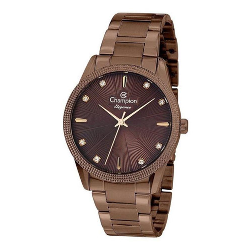 Relógio Feminino Champion Original Passion Chocolate CN25823R