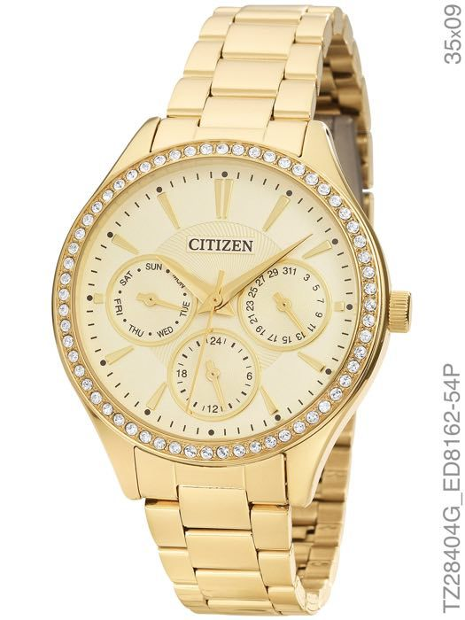 Relógio Feminino Citizen TZ28404G Analógico Dourado