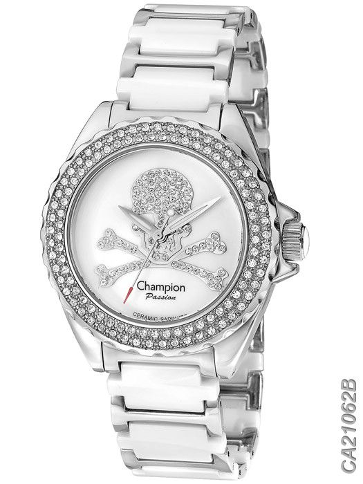 Relógio Feminino Glamour Champion CA21062B Prata