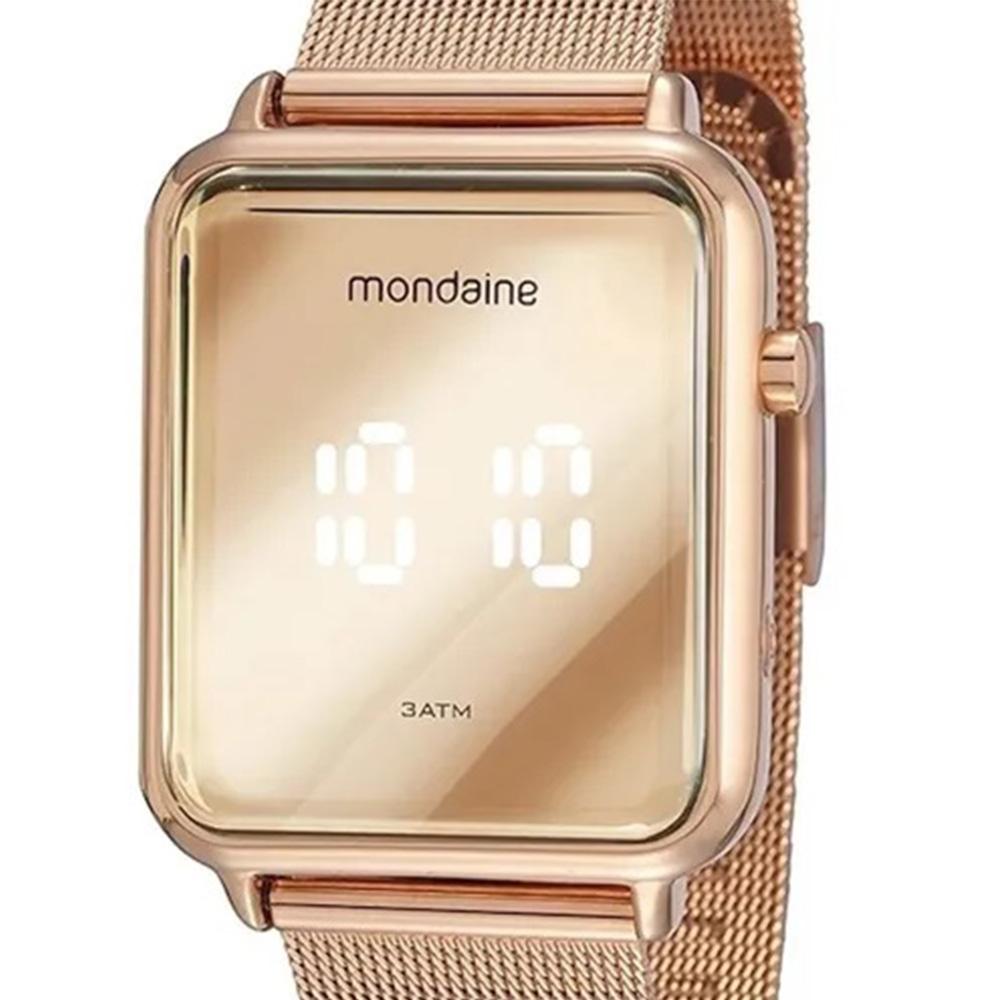 Relógio Feminino Mondaine Digital Led Rosê 32171lpmvre2
