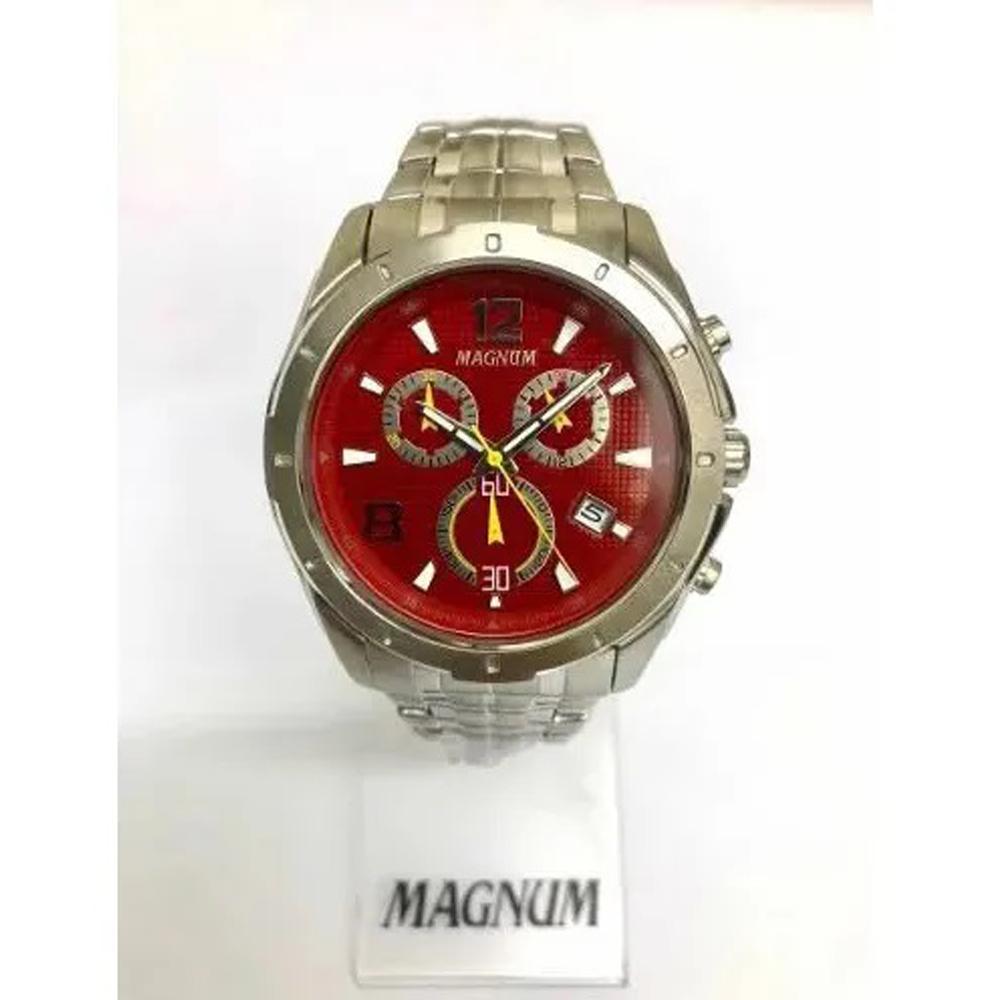 Relógio Magnum Masculino Cronógrafo Ma33488v Prata
