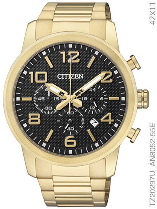 Relógio Masculino Citizen Analógico Tz20297u Dourado