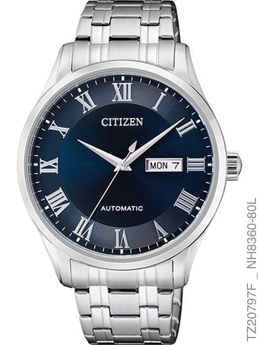Relógio Masculino Citizen Prata Automático TZ20797F