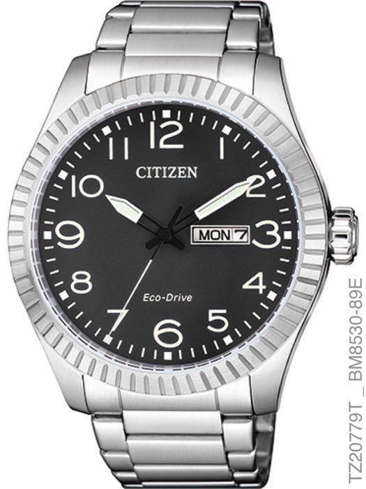 Relógio Masculino Citizen Prata Preto TZ20779T