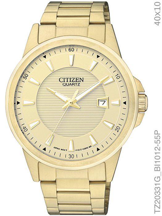 Relógio Masculino Citizen Tz20331g Analógico Dourado