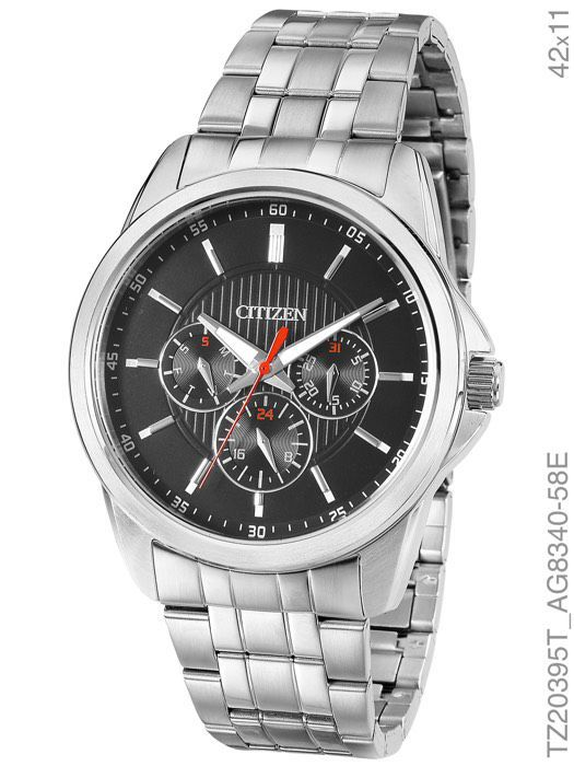 Relógio Masculino Citizen Tz20395t Aço Inox Prata