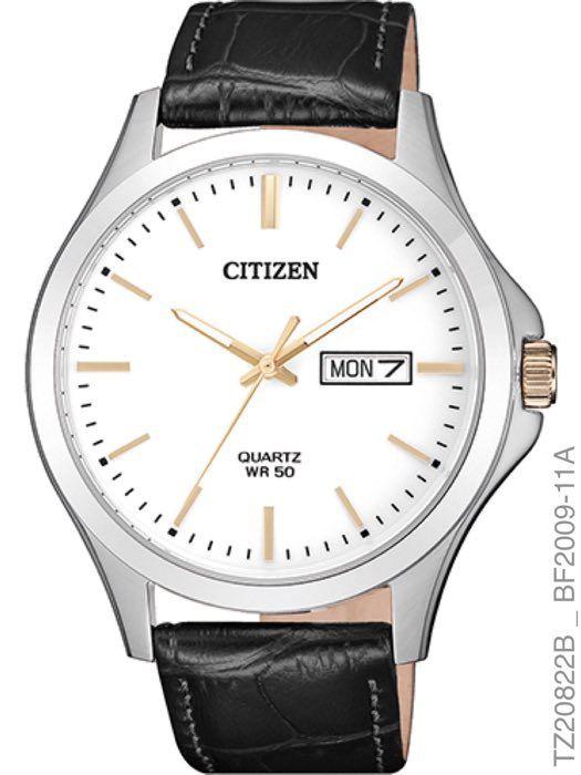 Relogio Masculino Citizen TZ20822B Prata Pulseira Couro