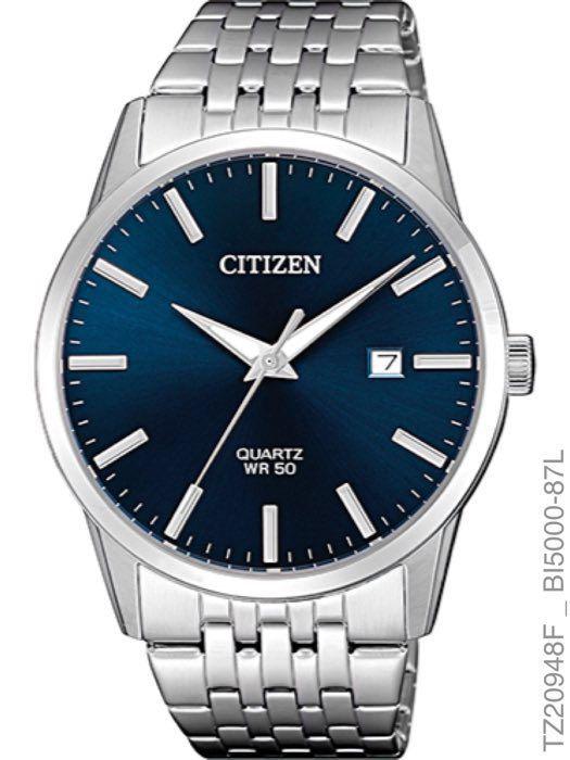 Relógio Masculino Citizen TZ20948F Quartz Fundo Azul Escuro