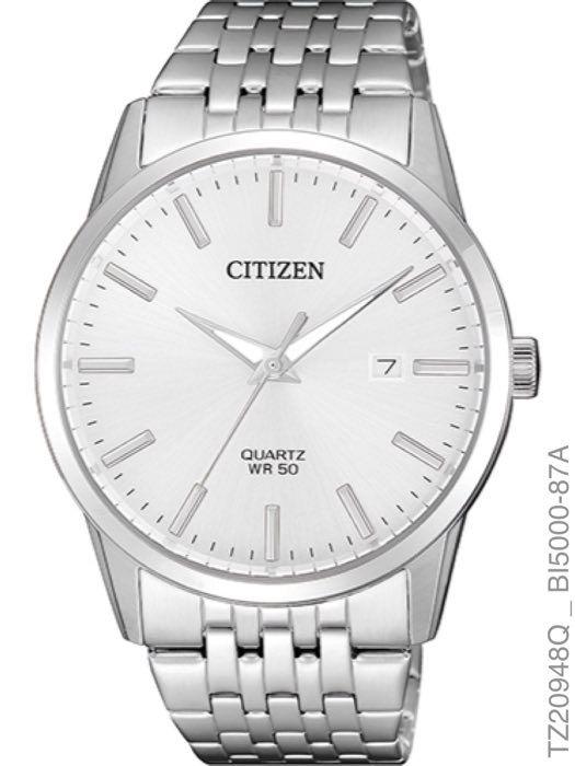 Relógio Masculino Citizen TZ20948Q Quartz Aço Inoxidável Prata
