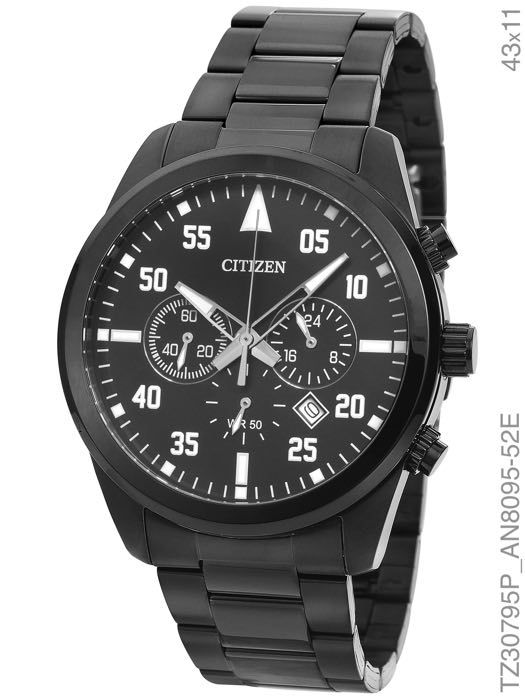 Relógio Masculino Citizen TZ30795P Preto - DUPL