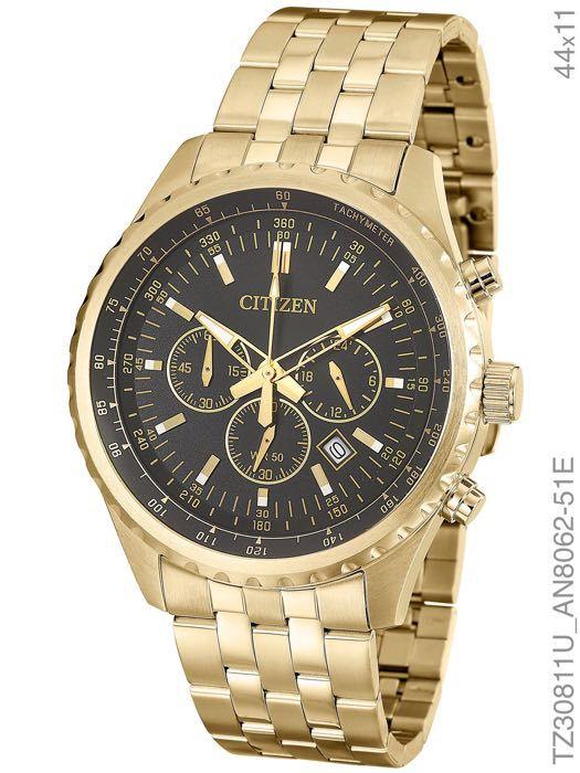 Relógio Masculino Citizen TZ30811U Dourado AN8060-57E
