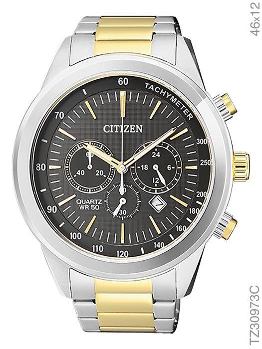 Relógio Masculino Citizen TZ30973C Prata/Dourado