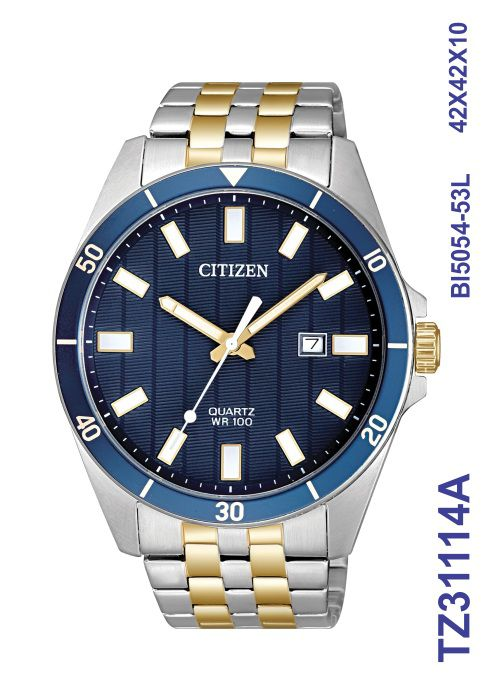 Relógio Masculino Citizen Tz31114a Misto Azul Analógico