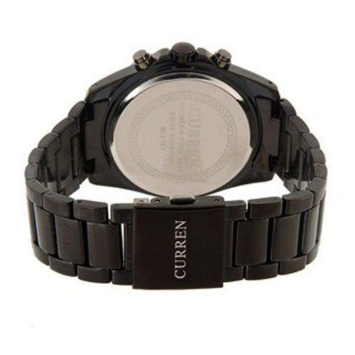Relógio Masculino Curren Analógico Casual Laranja 8107 - DUPL