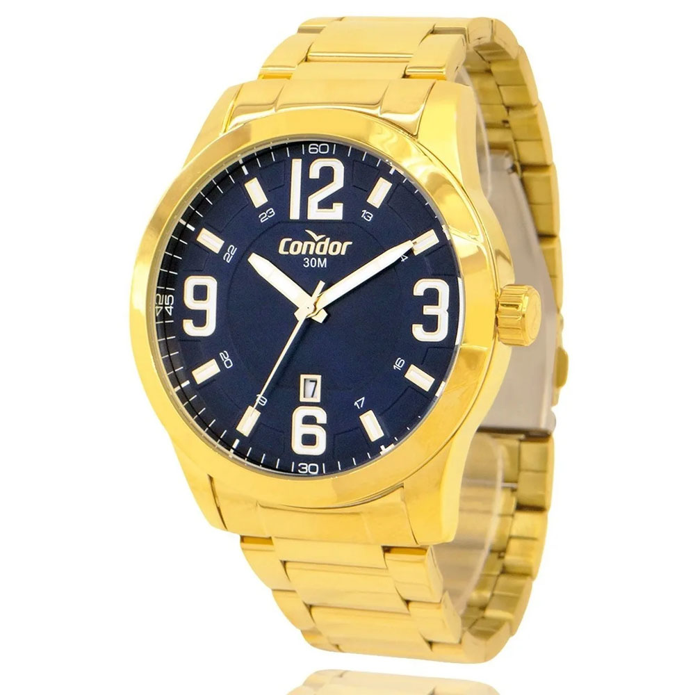 Relógio Masculino Dourado Condor Ouro 18k Original Garantia