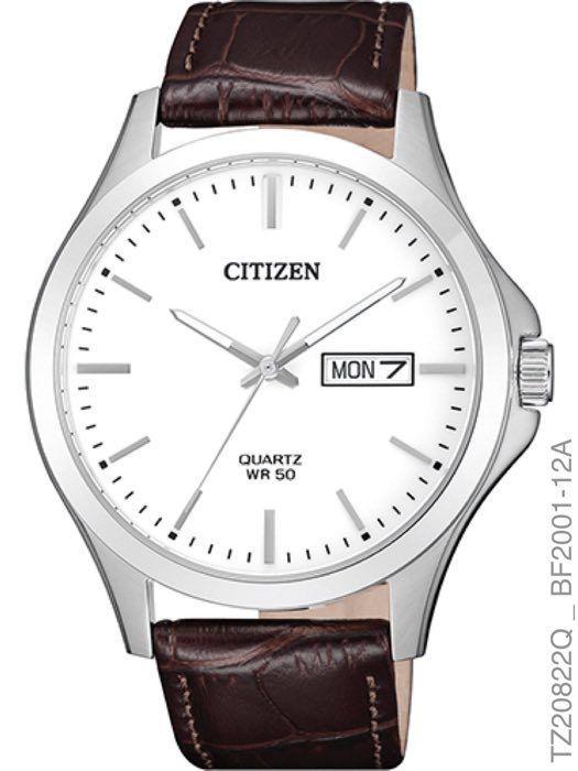 Relogio Masculino Luxo Citizen TZ20822Q Pulseira Couro