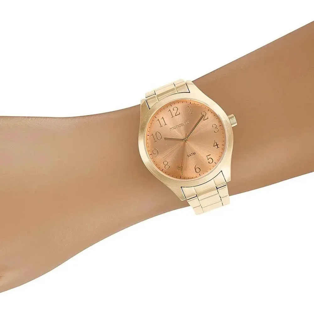 Relógio Mondaine Feminino Casual Ouro E Rosê  99397lpmvde2 Original Garantia