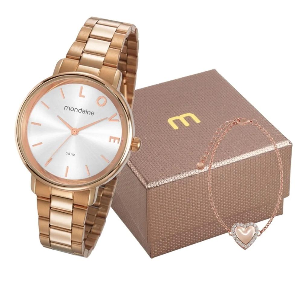 Relógio Mondaine Feminino Love Rosê Ouro 53761lpmkre2k1 A Prova D'Água Com Garantia