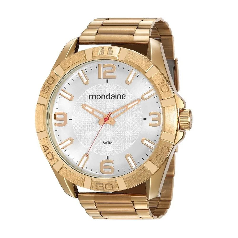 Relógio Mondaine Masculino Original Barato À Prova D'Água Ouro
