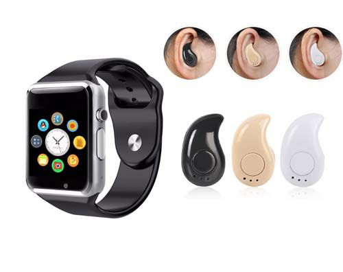 Relógio Smartwatch A1 + Mini Fone