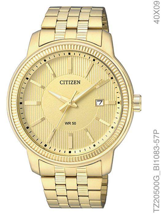 Relógio Social Masculino Citizen TZ20500G Gents Dourado