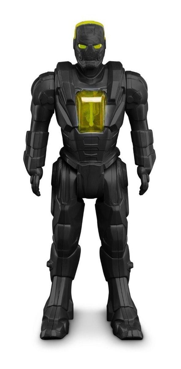 Robô Super Herói Carbon Man - Articulado - Tiger Squad- Roma