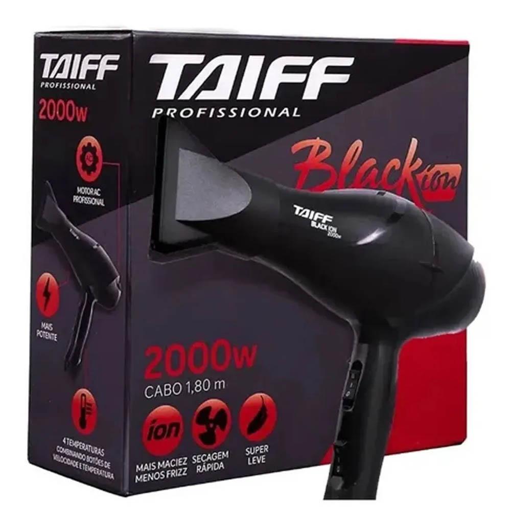 Secador Cabelos Taiff Black Íon 2000w - 127 Ou 220v