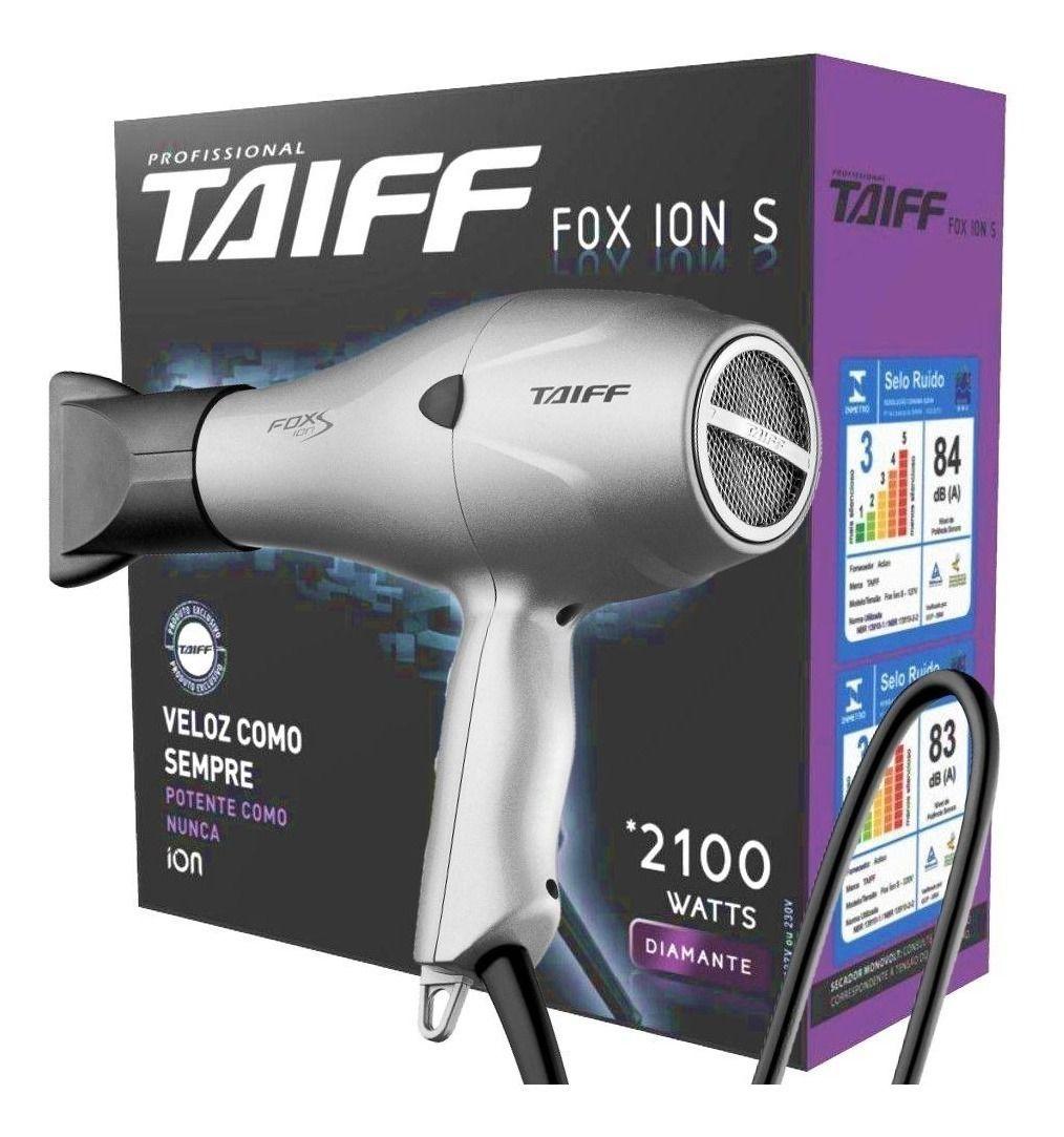 Secador De Cabelos Profissional Taiff Fox Ion S 2100w
