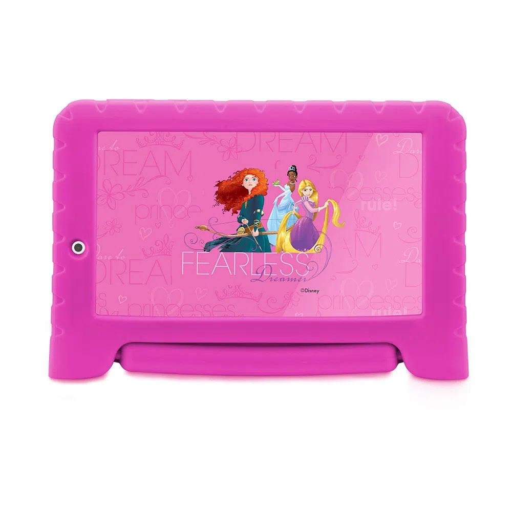 Tablet Infantil Multilaser Azul Disney Mickey Vingadores Princesas Quad Core Dual Câmera