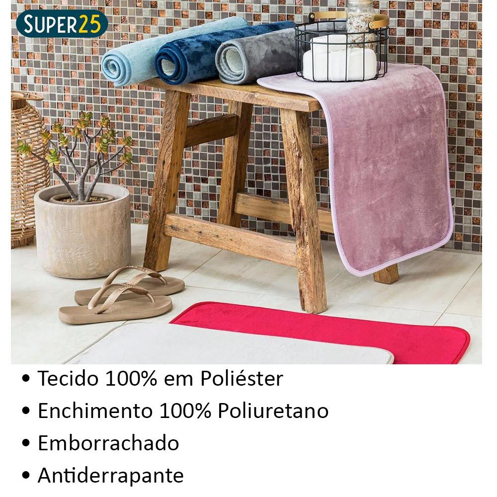 Tapete De Banheiro Antiderrapante Soft Outlet Camesa Cores