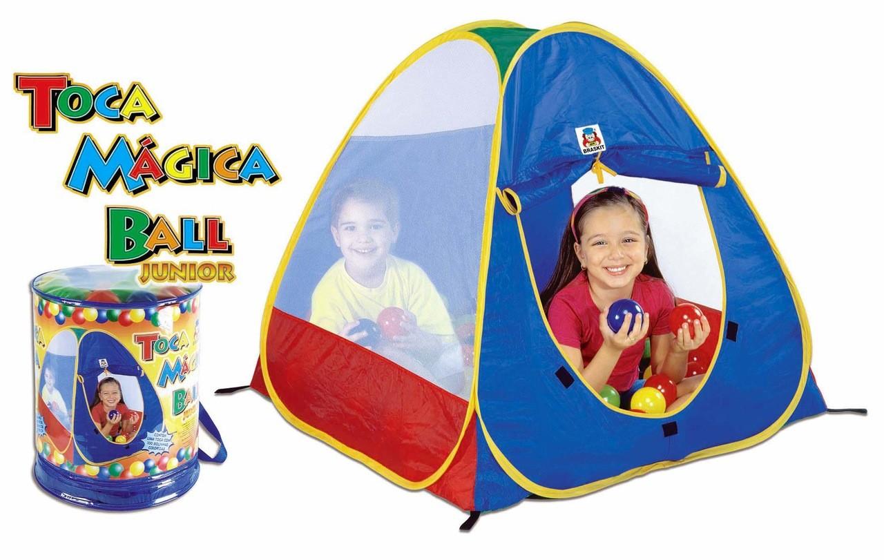 Toca Magica Ball Junior Azul Rosa Braskit Educativo Acampar
