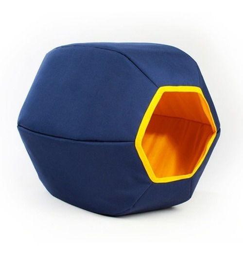 Toca Mundi Gatton Para Gatos Iglu Hexagonal - Azul