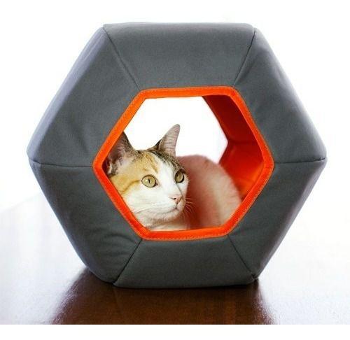 Toca Mundi Gatton Para Gatos Iglu Hexagonal - Cinza