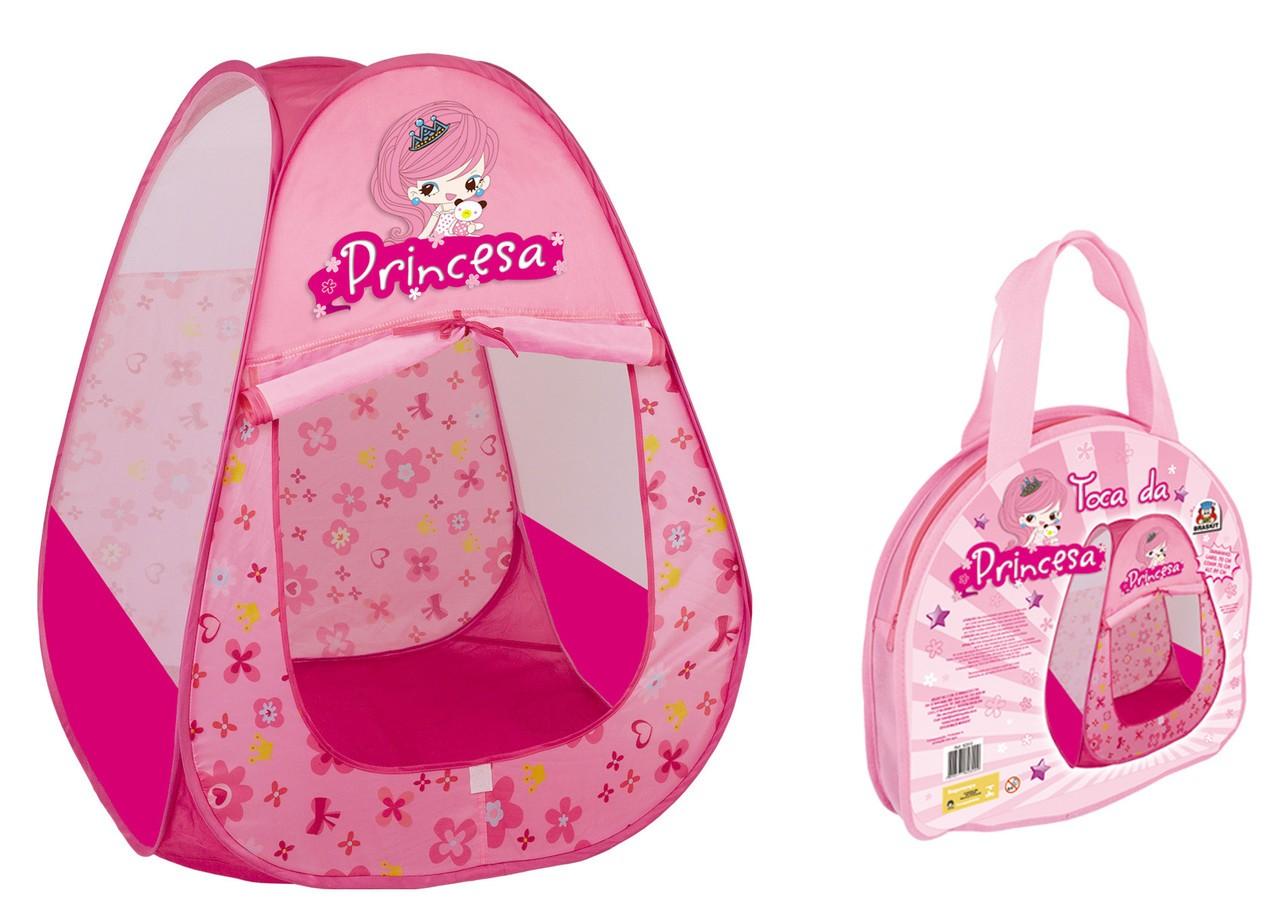 Toca Princesa Rosa Menina Barraca Infantil Braskit