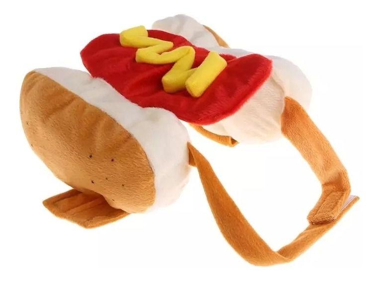 Traje Fantasia Realista Salsicha Hot Dog P/ Cães Gatos Pet