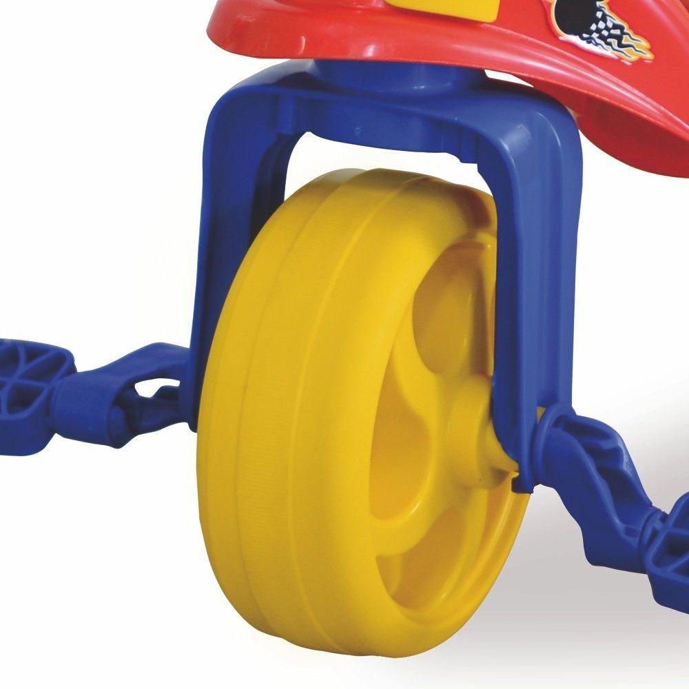 Triciclo Com Empurrador E Proteção Mickey - Colorido - 19787